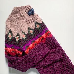 American Eagle• colorful fair isle knit sweater